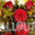 Bouquet of Wet Red Roses. Roses are covered by Water Drops. Slow Pan Down.