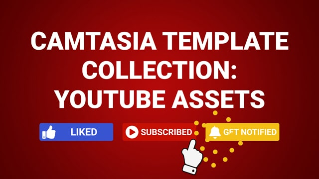 Camtasia Template Collection YouTube Marketing Assets