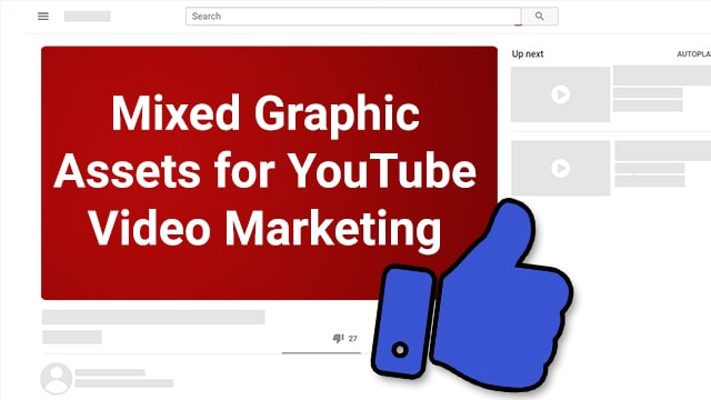 Mixed Graphic Assets for Youtube Video Marketing