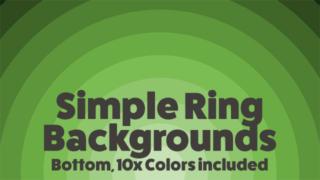 Basic Presentation Backgrounds: Simple Sunset Rings