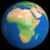 Shiny Styled Planet Earth Globe Showing Africa