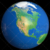 Shiny Styled Planet Earth Globe Showing North America