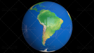 Shiny Styled Planet Earth Globe Showing South America