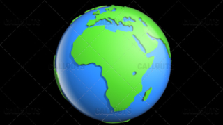 Stylized Two-Colored Glossy Planet Earth Showing Africa