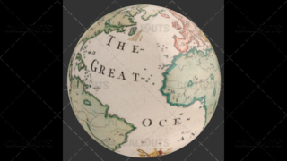 Old World Map Planet Earth Globe Showing Atlantic Ocean