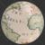 Old World Map Planet Earth Globe Showing Atlantic Ocean