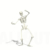 Skeleton Dancing the Twist Animation on White Background Loopable