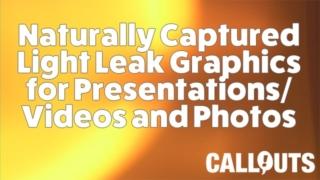 Natural Light Leak Overlay/Background Graphics