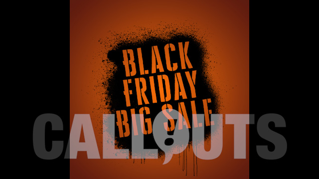 Black Friday Sales/Advertising Graphics: Spray Paint 02