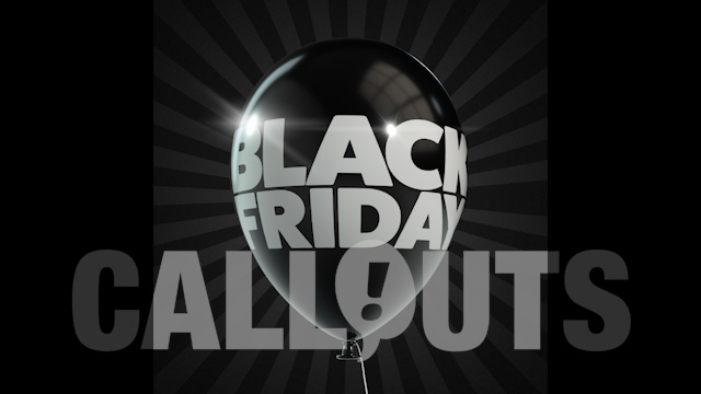 Black Friday Sales/Advertising Graphics: Balloon
