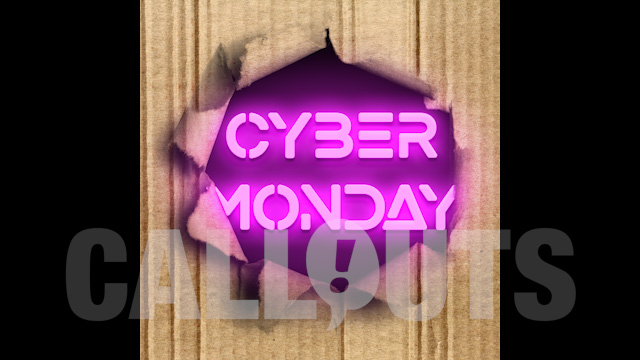 Cyber Monday Sales/Advertising Graphics: Carton Rip