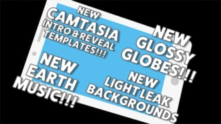 New Camtasia Intros/Logo Revealers, New Globes, Music and More…