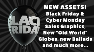 Black Friday/Cyber Monday Sales Assets, New Globes, Music and Autumn Assets