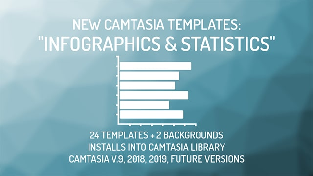 Camtasia Infographics and Statistics Templates
