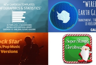 New Camtasia Infographics/Statistics Templates, New Globes, Music, and More…