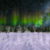Winter Wonderland Aurora Locked Shot with Snow Animation