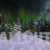 Winter Wonderland Aurora Close Up with Deers Animation