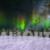 Winter Wonderland Aurora Locked Shot Medium Distance Animation