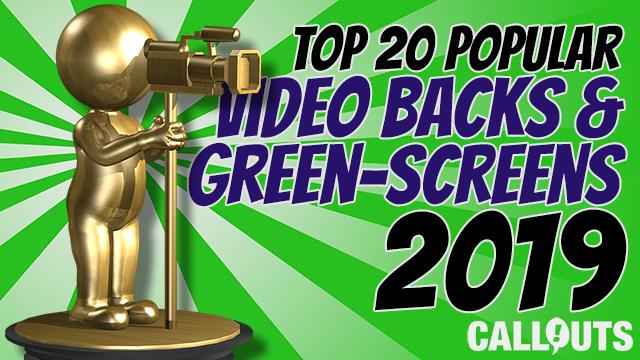 Top 20 Popular Background & Green-Screen Videos 2019