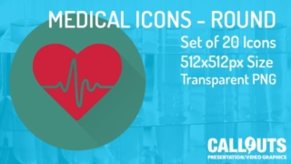 Medical Theme Icons Collection Round Flat Style