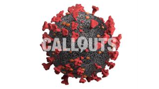 Covid 19 Coronavirus Microscopic on White Background, 3D Illustration