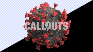 Covid 19 Coronavirus Microscopic with Depth-of-Field Transparent 3D Illustration
