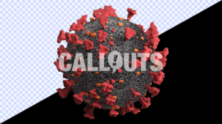 Covid 19 Coronavirus Microscopic Transparent 3D Illustration