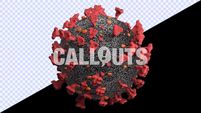 Covid 19 Coronavirus Microscopic Transparent 3D Illustration