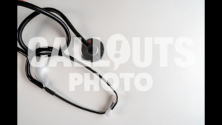 Stethoscope on White Surface with Text Space