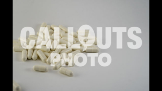 Pile of White Medicine or Supplements 02, White Background, Text Space