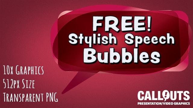 Free Stylish Multicolored Speech Bubbles