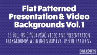 Flat Patterned Presentations/Video Background Grapics Vol.1