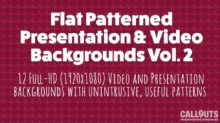Flat Patterned Presentations/Video Background Grapics Vol.2