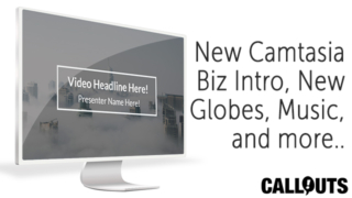 New Camtasia Business Intro, Globes, Sound FX and presentation patterns