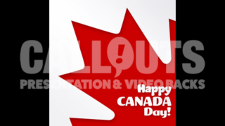 Canada Day Celebration Poster Square Text