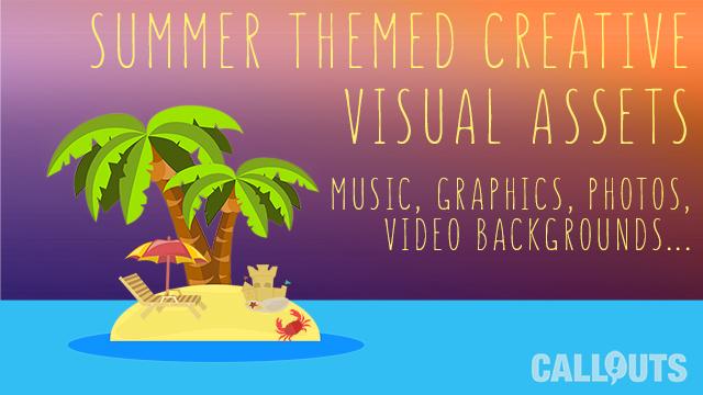 Summer Themed Creative Visual Assets