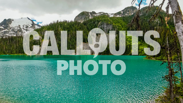 Joffre Lake with forest and glacier background 06
