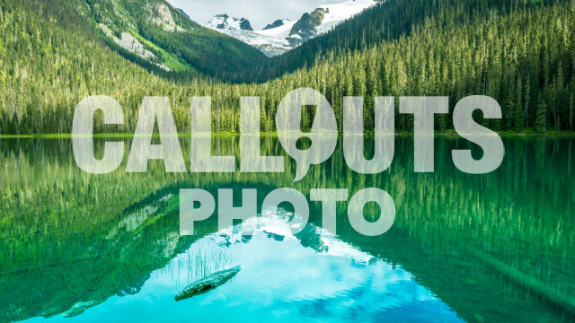 Joffre Lake with forest and glacier background reflecting in water