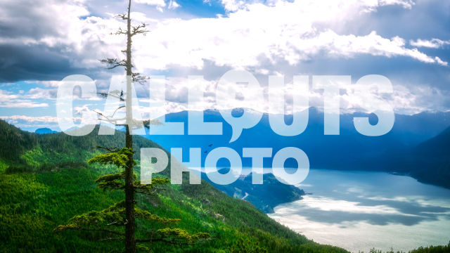 Howe Sound and gleaming cloudy skies