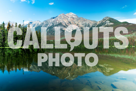 Pyramid Lake with mountains and forest 01