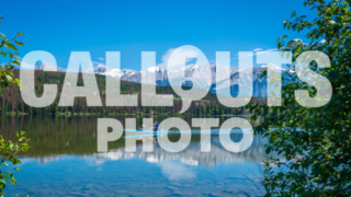 Canoe on Pyramid Lake with mountains and forest, (Lic. Ed. Use Only)