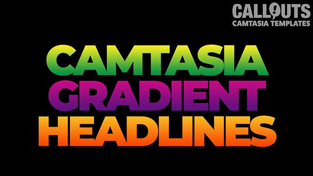 "Camtasia ""Gradient Headlines"" Template Collection"