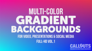Multi-Colored Gradient Background Graphics Vol 01