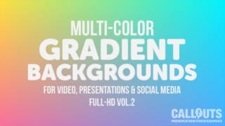 Title: Multi-Colored Gradient Background Graphics Vol 02