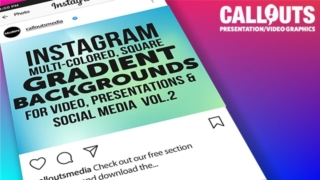 Instagram Multi-Gradient Backgrounds, Square