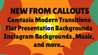 New Camtasia Transitions, Presentations Video Backgrounds, Music, and More