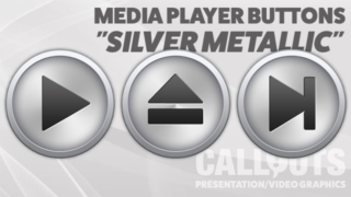 Media Player Silver Metallic Icons