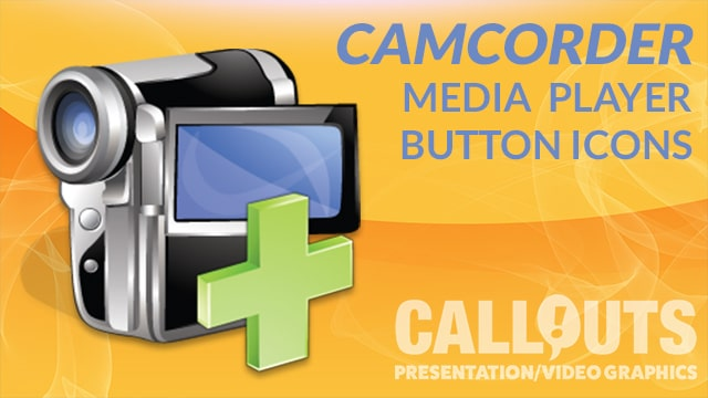 Media Player Camcorder Icons