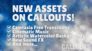 Free Camtasia Transitions, Artistic Backgrounds, Custom Logo, New Music, and More