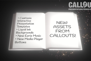 New Camtasia Interactive Presentations, Liquid Backgrounds, Music & Media Player Buttons